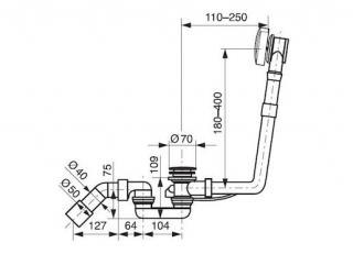 IDEAL STANDARD Odtoková a přepadová sada VV3504200S000
