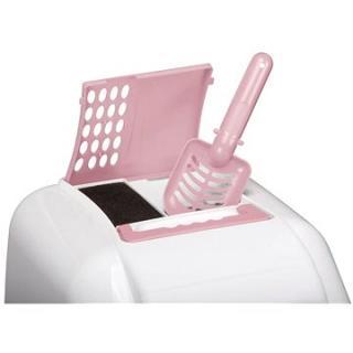 IMAC Krytý kočičí záchod s uhlíkovým filtrem a lopatkou - růžový - D 50 × Š 40 × V 40 cm