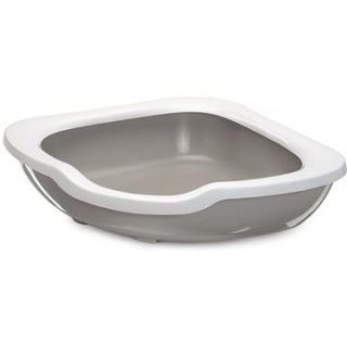 IMAC Rohový Kočičí záchod s vysokým okrajem - béžový - D 51 × Š 51 × V 15,5 cm