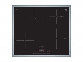 Indukční deska indukční varná deska bosch,60cm,4zóny,1xpečící, 7,4kw,nerez.rám
