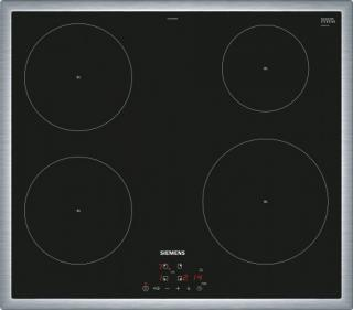 Indukční deska indukční varná deska siemens,60cm,4zóny,7,4 kw,nerezový rámeček