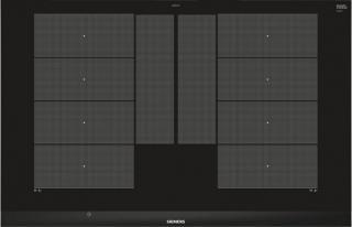 Indukční deska indukční varná deska siemens,80cm,4zóny,7,4 kw,fazetový design