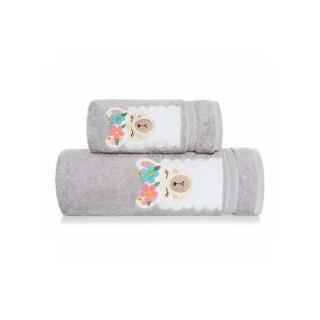 Inny Baby towel 70x140 A337 Grey One size