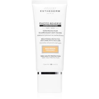 Institut Esthederm Photo Reverse Brightening Protective Anti-Dark Spots Face Care ochranný tónovací krém proti pigmentovým skvrnám s vysokou UV ochran dámské 50 ml