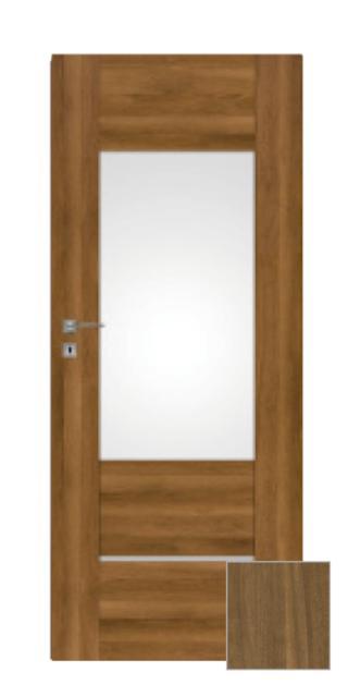 Interiérové dveře Naturel Aura pravé 80 cm ořech karamelový AURA3OK80P dřevodekor ořech karamelový
