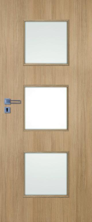 Interiérové dveře Naturel Kano pravé 70 cm jilm KANO30J70P dřevodekor