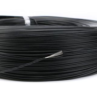 Izolovaný PVC kabel 10 metrů - 8 barev Barva: černá, Typ: 10 m