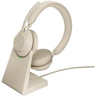Jabra Evolve2 65, Link380c MS Stereo Stand Beige
