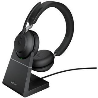 Jabra Evolve2 65, USB-A Black MS teams Stereo Deskstand