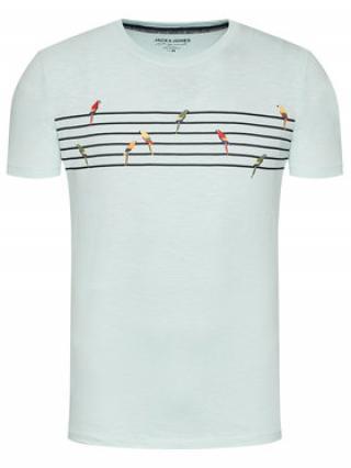 Jack&Jones T-Shirt Playa Stripe 12188495 Zelená Regular Fit pánské S