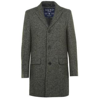 Jack Wills Henshaw Herringbone Crombie Coat pánské Other XS