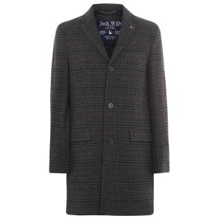 Jack Wills Roe Wool Crombie Check Coat pánské Other XS