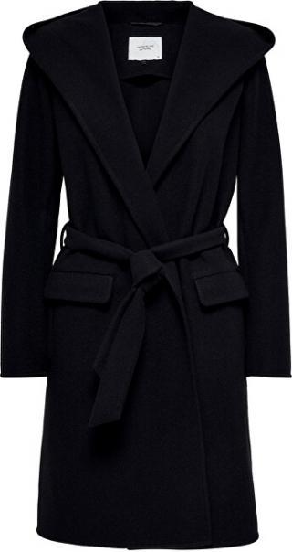 Jacqueline de Yong Dámský kabát JDYOVIDA LONG HOOD JACKET OTW HAB Black M dámské