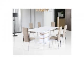 Jídelní set pro 6 osob s atypickým stolem NN110