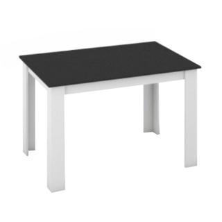 Jídelní stůl 120x80 v bílé a černé TK043