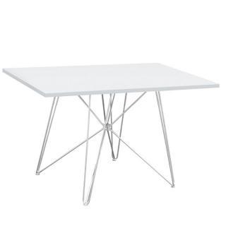 Jídelní stůl 120x80cm v bílém provedení s vysokým leskem TK2154