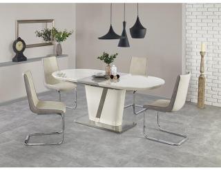 Jídelní stůl Iberis krémová-Bílá