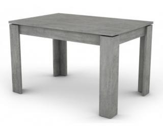 Jídelní stůl Inter 120x80 cm, šedý beton Šedá