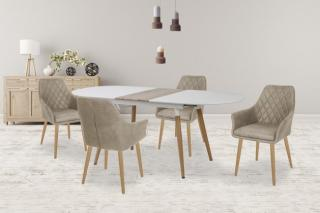 Jídelní stůl jídelní stůl caliber - rozkládací 160/200  dub sanremo