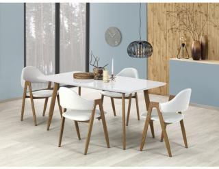 Jídelní stůl Ruten, bílá / dub medový