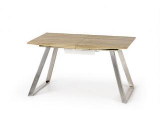 Jídelní stůl Trevor, dub sonoma/bílý bílá
