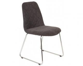Jídelní židle Aruba 4, antracitová látka