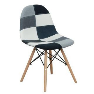 Jídelní židle čalouněná vzor patchwork TK3325
