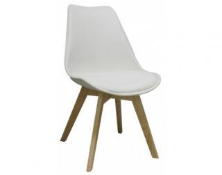 Jídelní židle Larsson, bílá