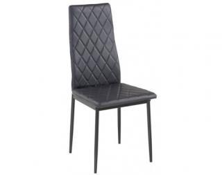 Jídelní židle Rimini, černá ekokůže