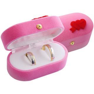 JK Box Dárková krabička na prsteny nebo náušnice FU-210/A5 dámské růžová