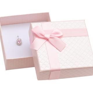 JK Box Růžová dárková krabička na šperky AT-5/A5 dámské světle růžová