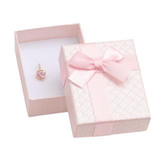 JK Box Růžová dárková krabička na šperky AT-6/A5 dámské světle růžová