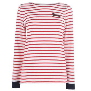 Joules Harboue Embroidered T Shirt dámské Other XS