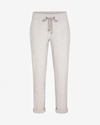 JUVIA Turn-Up Fleece Tepláky Bílá Šedá dámské XL