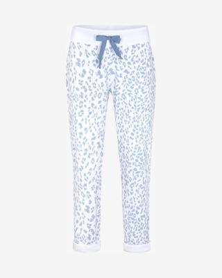 JUVIA Turn-Up Fleece Tepláky Modrá Bílá dámské XL