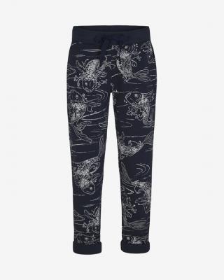 JUVIA Turn-Up Kois Fleece Tepláky Modrá dámské XL