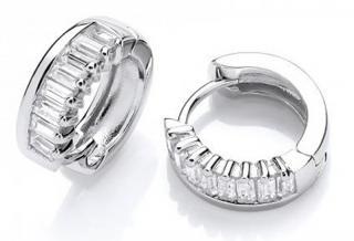 JVD Masivní stříbrné náušnice kruhy se zirkony SVLE0590XH2BI00 dámské