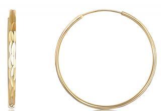 JVD Pozlacené stříbrné náušnice kruhy SVLE0209XD5GO 3 cm dámské