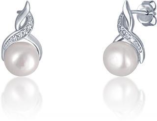 JVD Stříbrné náušnice bílými perlami SVLE0171SD2P100 dámské