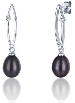 JVD Stříbrné náušnice s tmavými perlami SVLE0166SD2P500 dámské