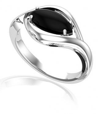 JVD Výrazný stříbrný prsten s onyxem SVLR0348SH8BL 61 mm dámské