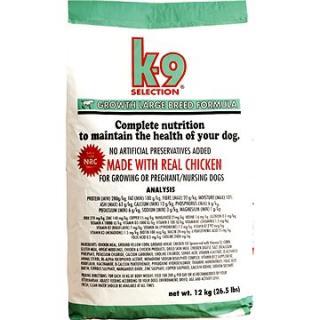 K-9 selection growth large breed formula - štěňata velkých plemen 12 kg