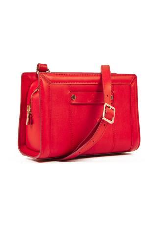 Kabelka Gant D1. Club Leather Cross Bag dámské červená
