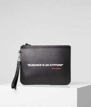 Kabelka Karl Lagerfeld Karl Legend Clutch Elegance černá