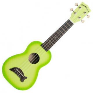 Kala Makala Dolphin Sopránové ukulele Green Apple Burst Soprano Ukulele