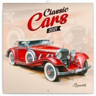 Kalendář 2021 poznámkový: Classic Cars – Václav Zapadlík, 2021, 30 × 30 cm