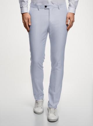 Kalhoty klasické s puky OODJI pánské bílá L