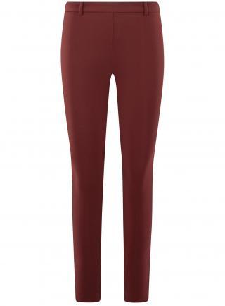 Kalhoty obepínající s pružným pasem OODJI dámské vínová XS