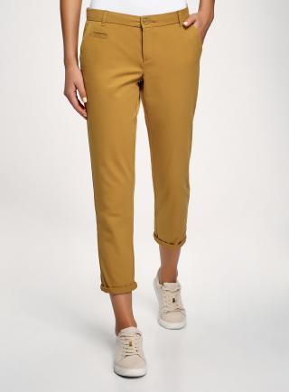 Kalhoty typu chinos s páskem OODJI dámské bronzová XXS