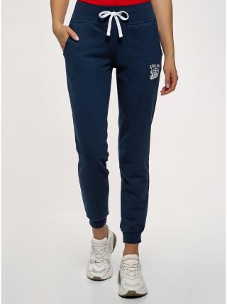 Kalhoty úpletové sportovní OODJI dámské modrá M